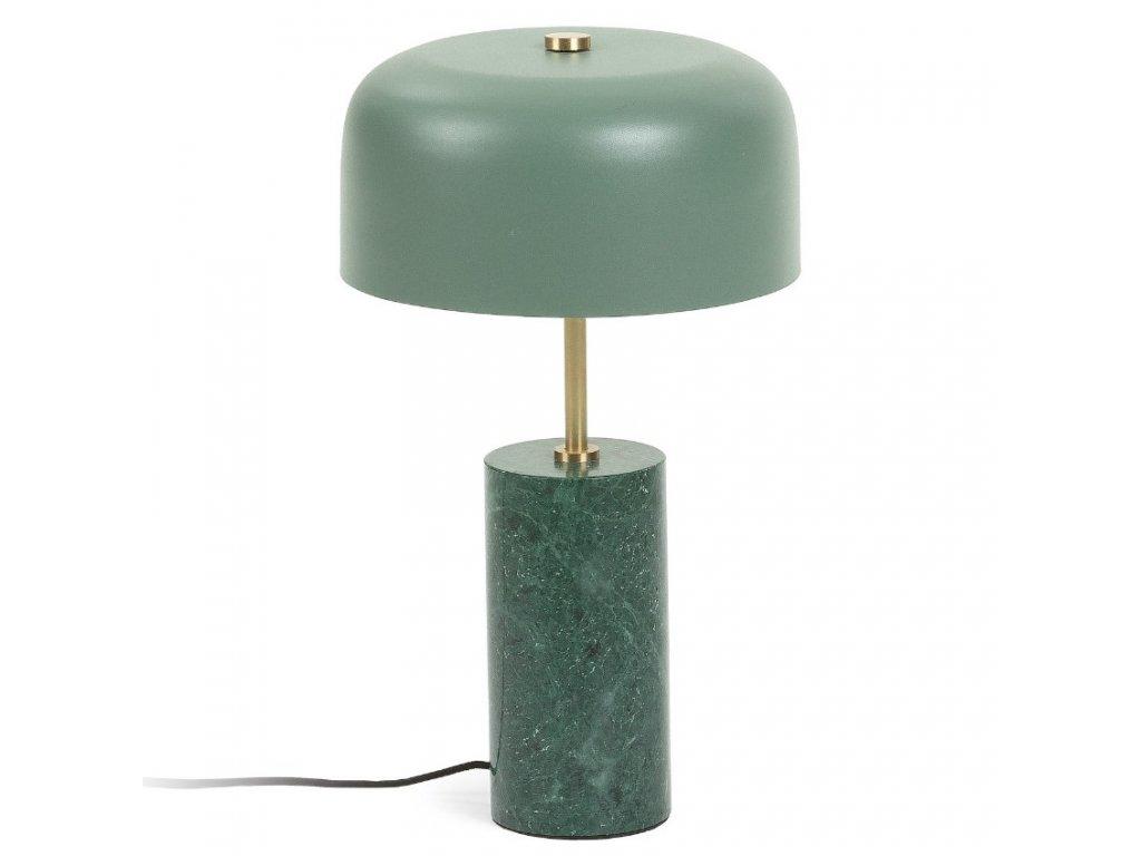Zelená mramorová stolní lampa LaForma Biscane