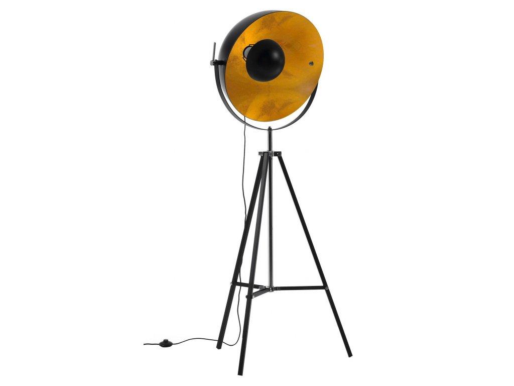 Černá kovová stojací lampa LaForma Parker