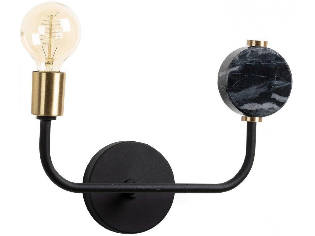 Černé kovové nástěnné světlo LaForma Whoa