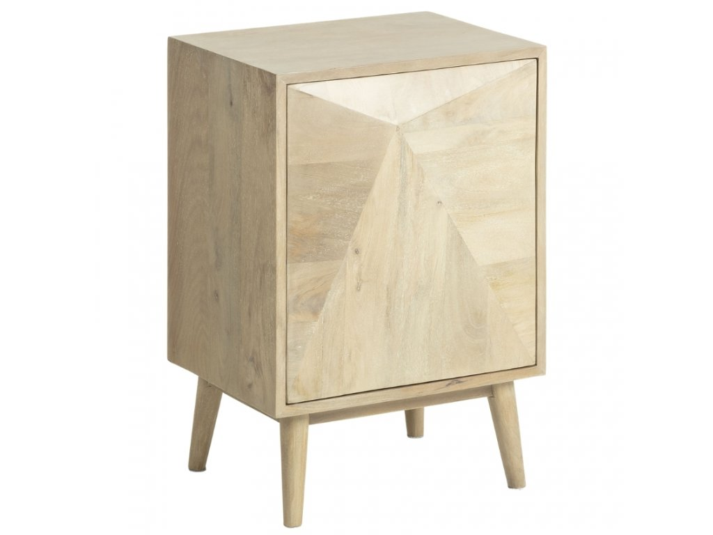 masivní dřevěný noční stolek LaForma Sanvy z mangového dřeva