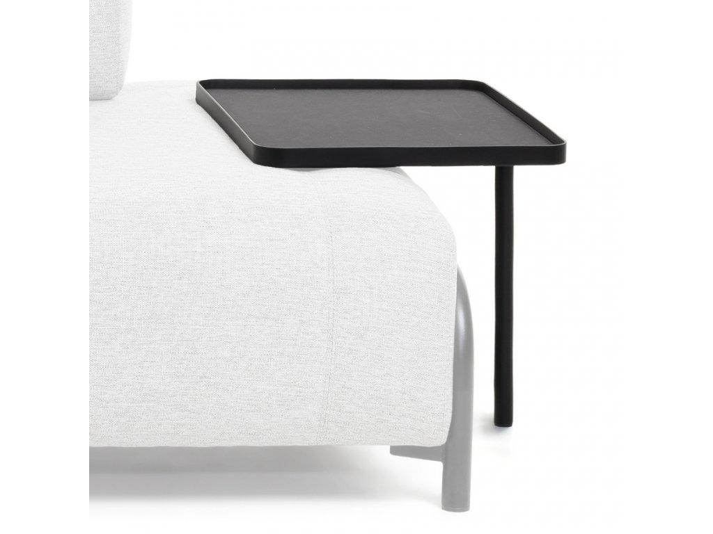 Velký černý kovový odkládací stolek LaForma Compo 54 x 40 cm