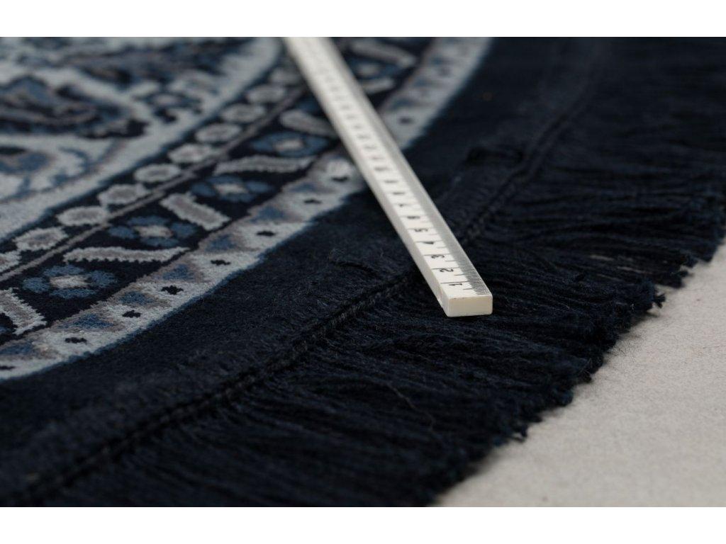 Modrý kulatý koberec DUTCHBONE Bodega 175 cm
