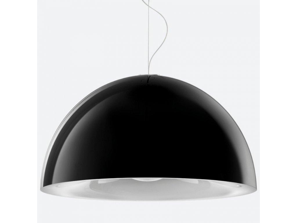 Černé závěsné světlo Pedrali L002S/BA 52 cm
