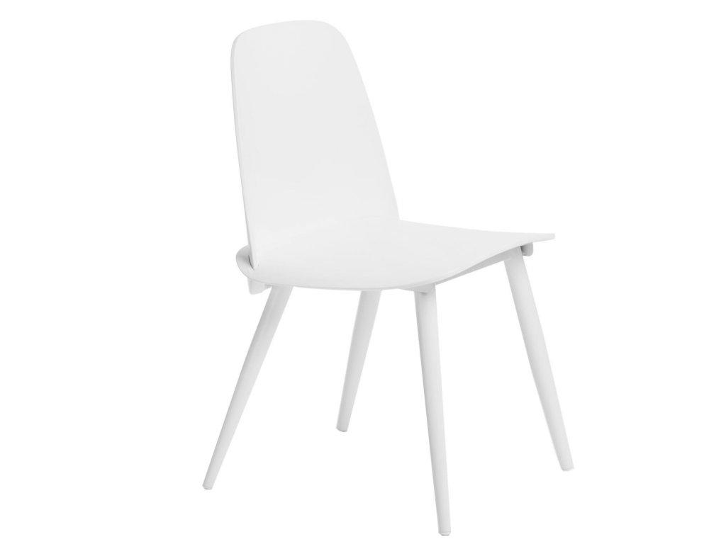 Bílá plastová jídelní židle Toby