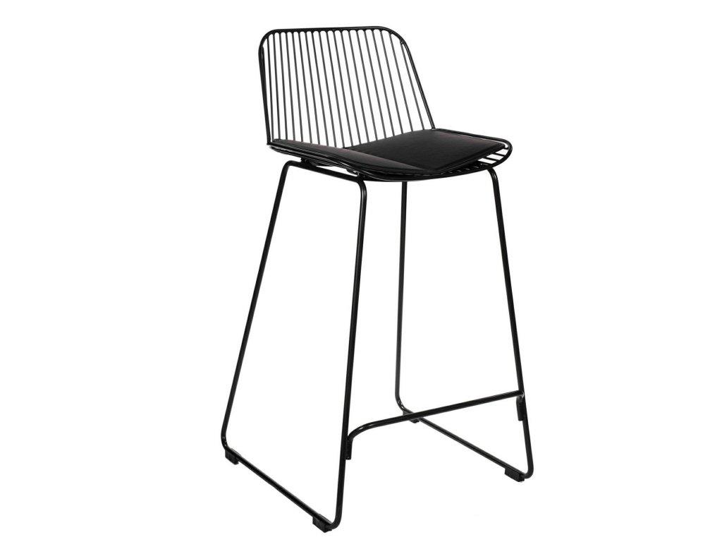Černá barová židle Amelia