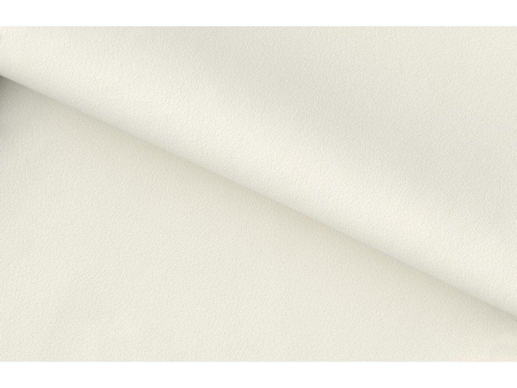 Bílá čalouněná jídelní židle Presley s kovovou podnoží