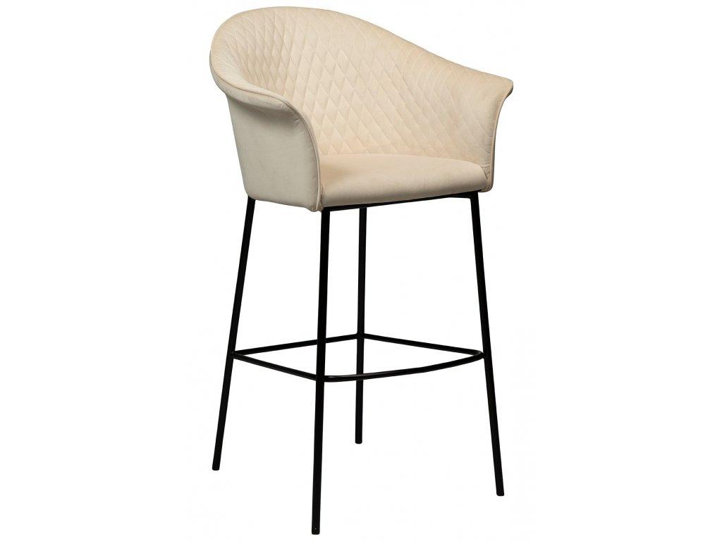 Perlová sametová barová židle Dan-Form Kite