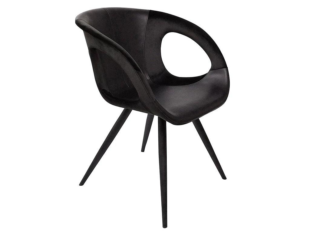Černá čalouněná jídelní židle Dan-Form Omega