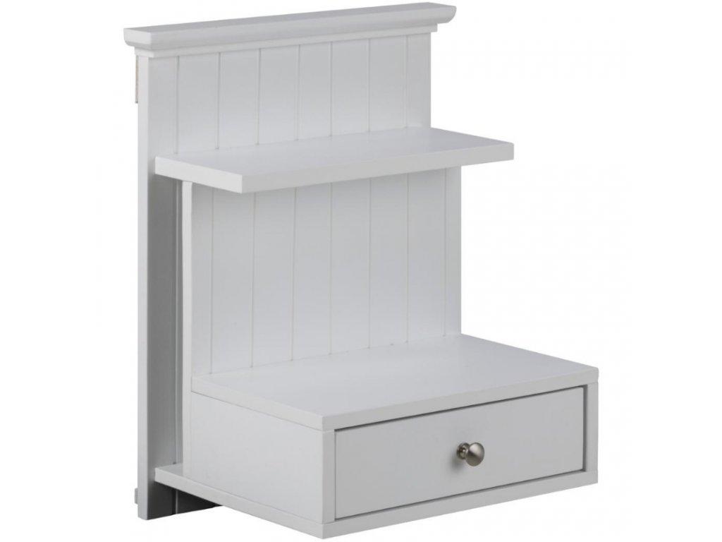 Bílý nástěnný noční stolek Chamber