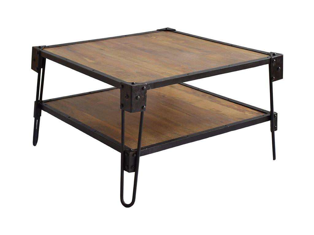 Hnědý dřevěný konferenční stolek RGE Bangalor 75 cm