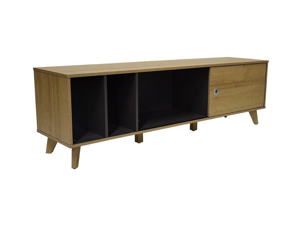 Přírodní dřevěný TV stolek RGE Ohio