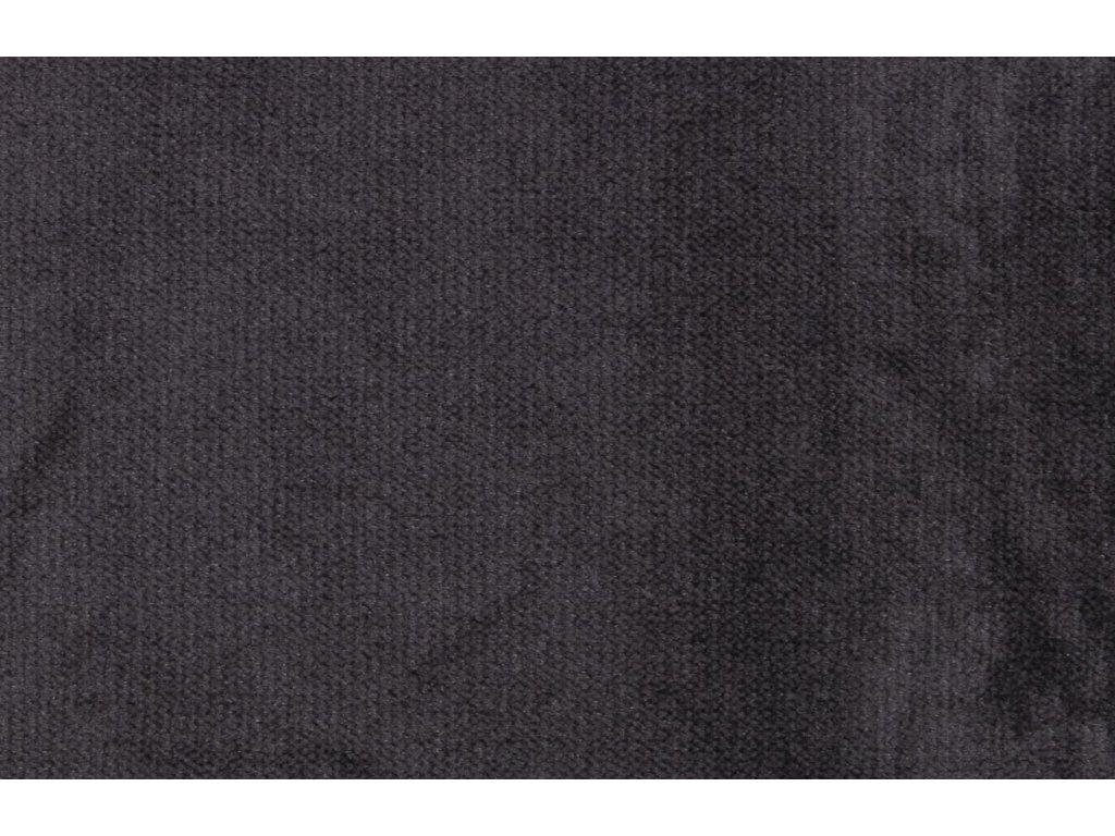 Tmavě šedá sametová rohová pohovka Raden 266 cm, pravá s kovovou podnoží
