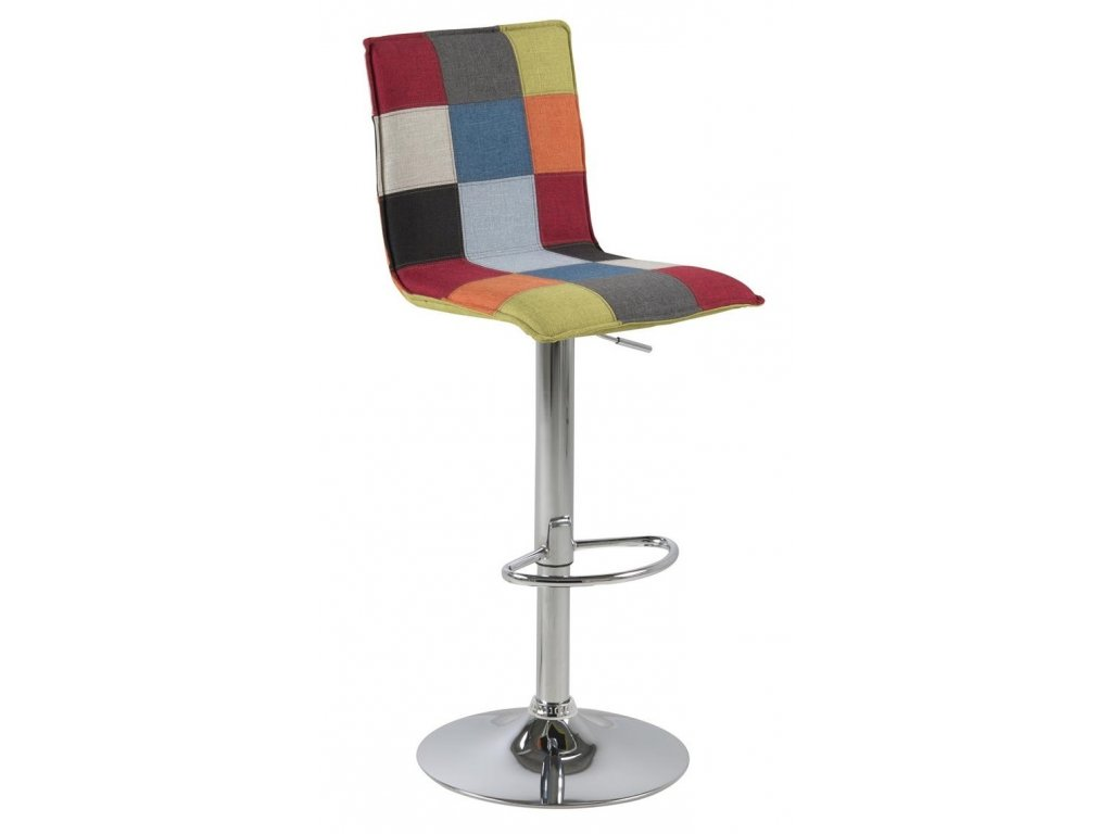 Barevná látková barová židle Alena