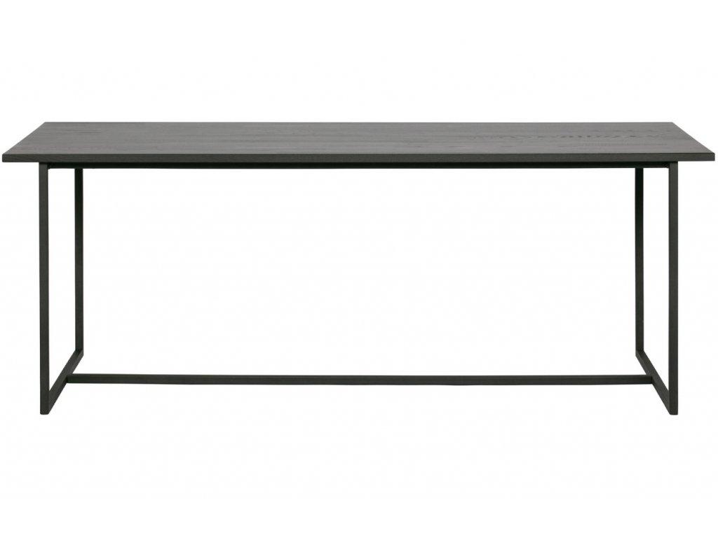 Dřevěný jasanový jídelní stůl Arthur 200x90 cm s kovovou podnoží