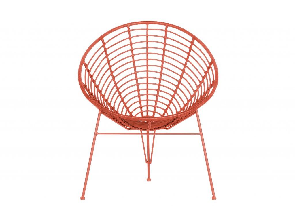 Melounově červené zahradní lounge křeslo Jenny