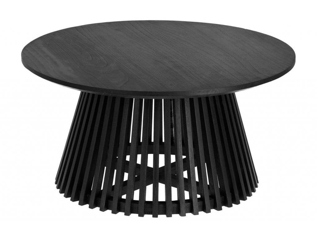 Černý masivní konferenční stolek LaForma Irune 80 cm