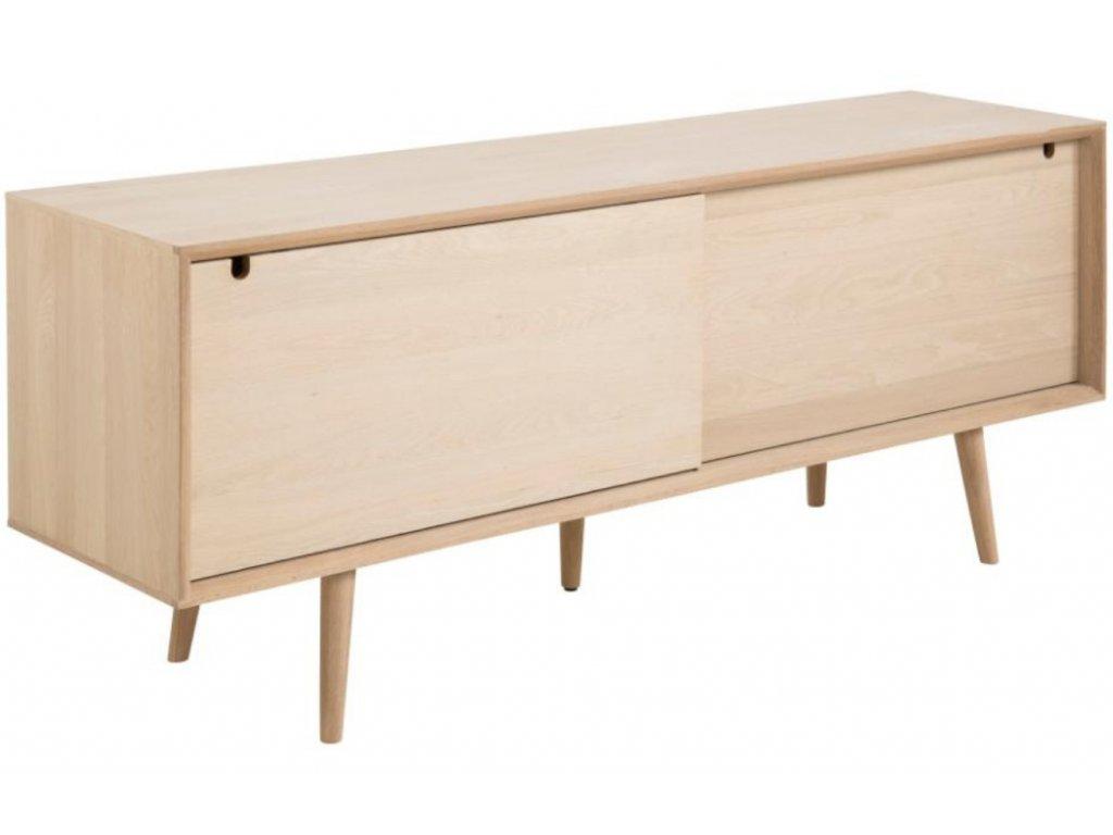 Světlá dřevěná komoda Celia 180 x 45 cm