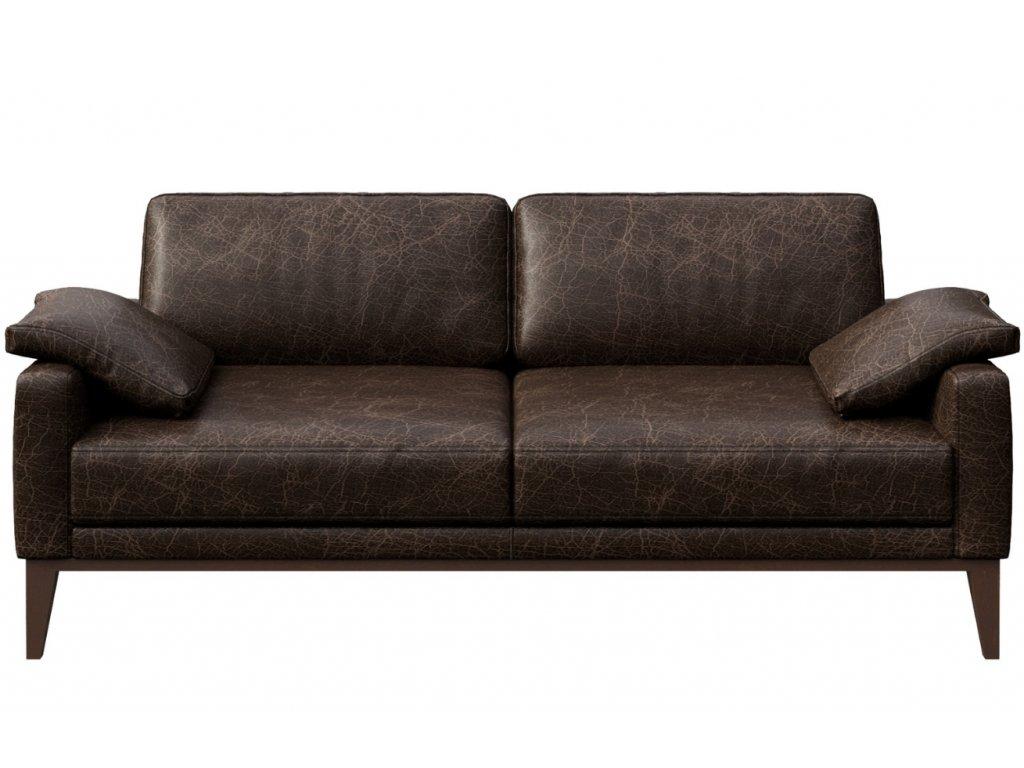 Tmavě hnědá vintage kožená dvoumístná pohovka MESONICA Musso 173 cm -  Designový Nábytek