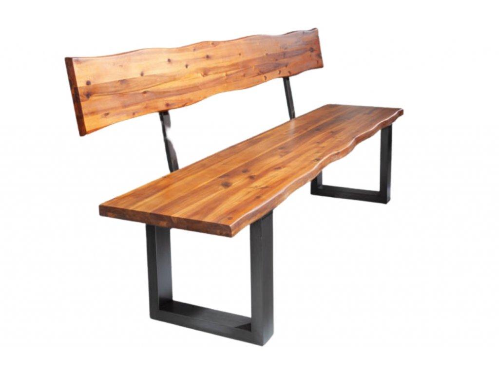 Masivní akátová lavice Roland 200 cm