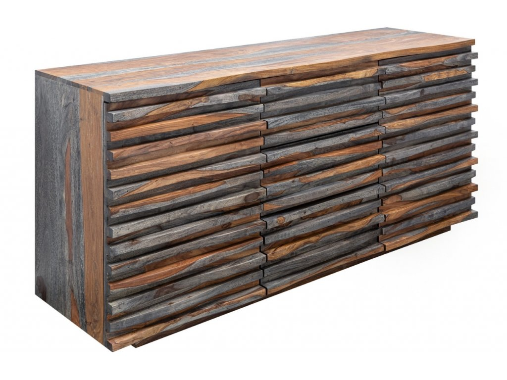 Masivní sheeshamová komoda Matis 160 x 45 cm