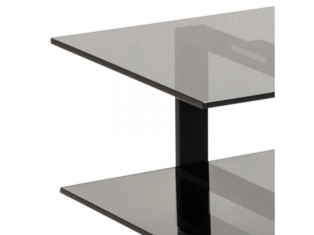 Černý skleněný TV stolek Divo 120x45 cm
