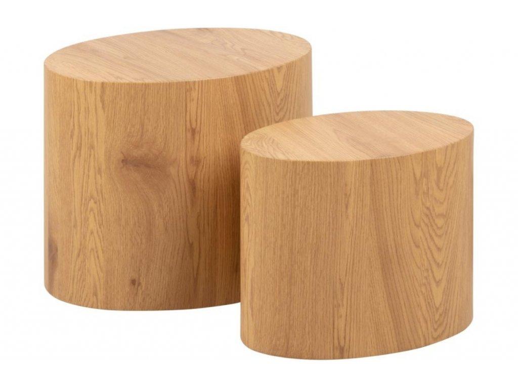 Přírodní set konferenčních stolků Alida