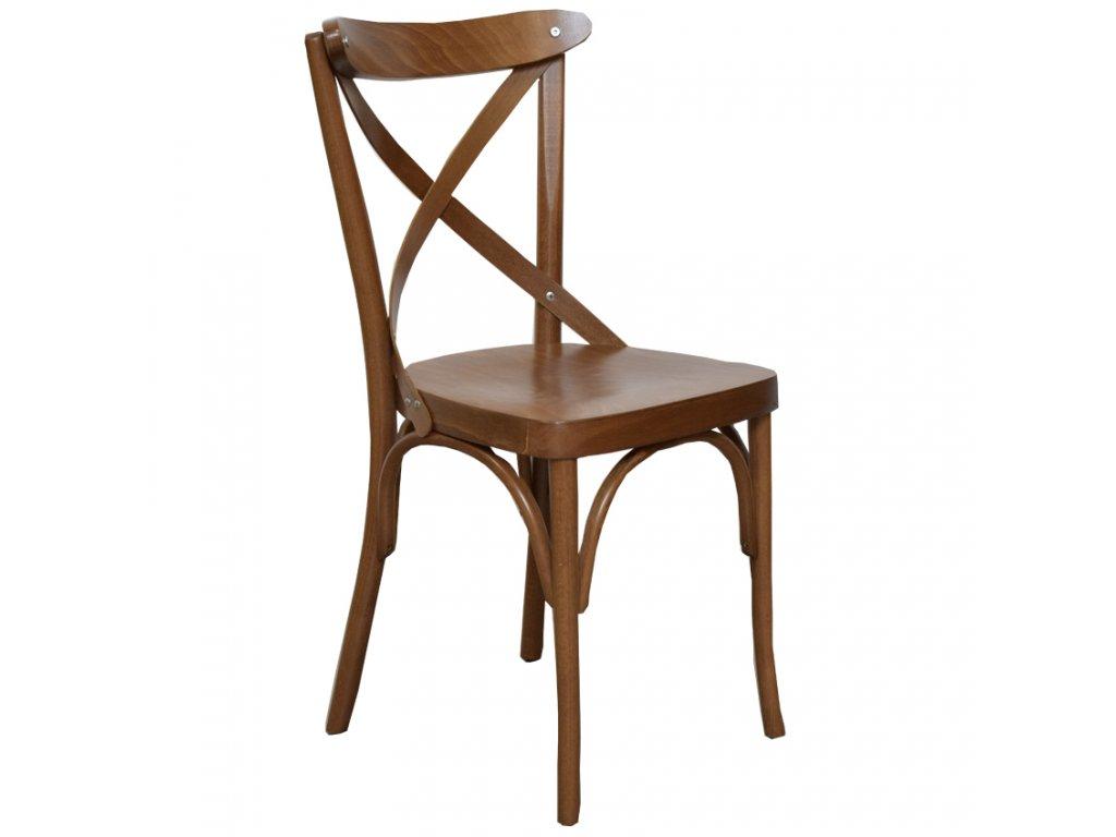 Hnědá dřevěná jídelní židle Shelby