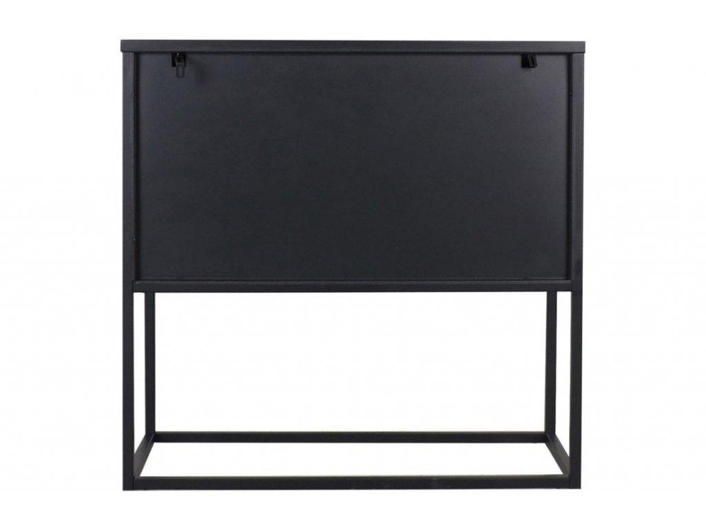 Černá kovová komoda Renna 82 cm