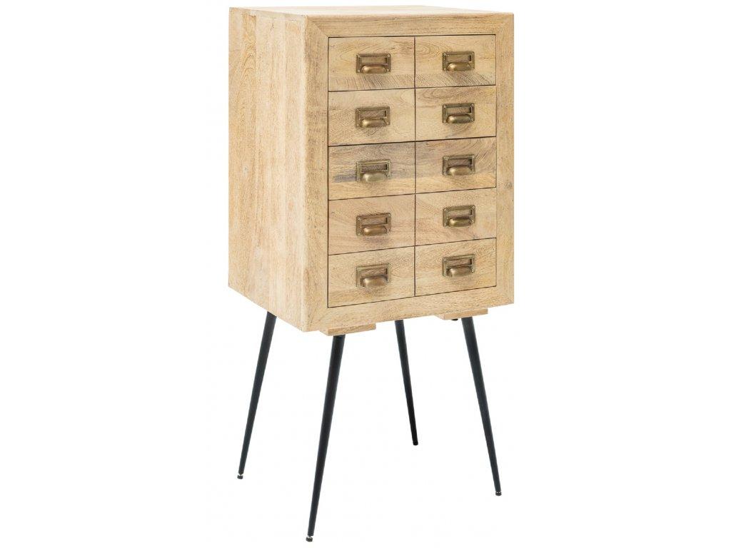 Masivní dřevěný příborník Apotheke 50x40 cm