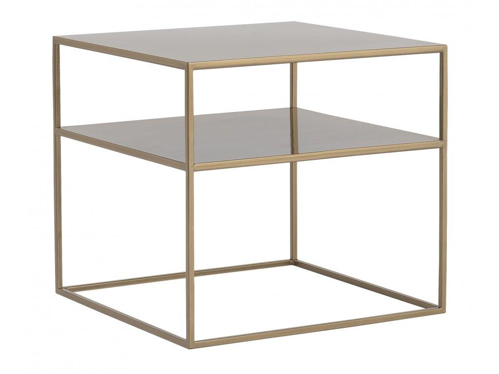 Zlatý kovový konferenční stolek Moreno II. 50 x 50 cm