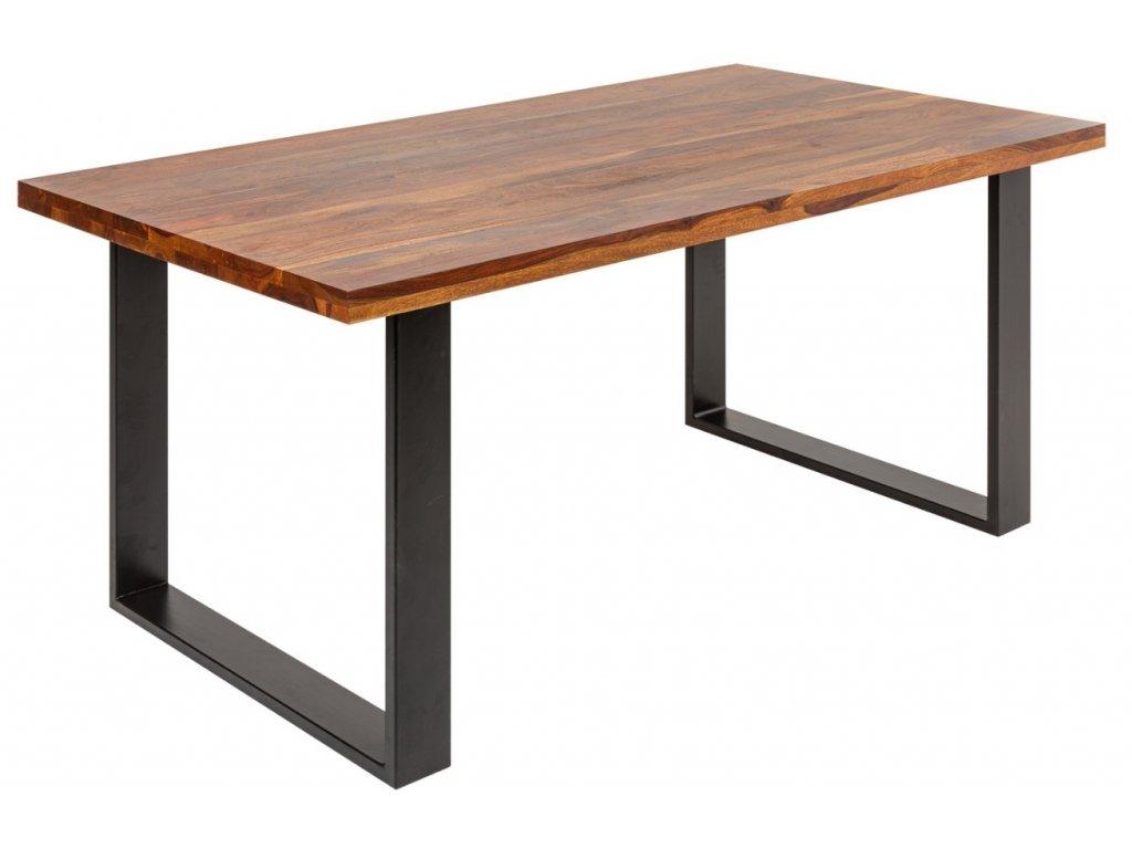 Masivní sheeshamový jídelní stůl Fabio 160 x 90 cm