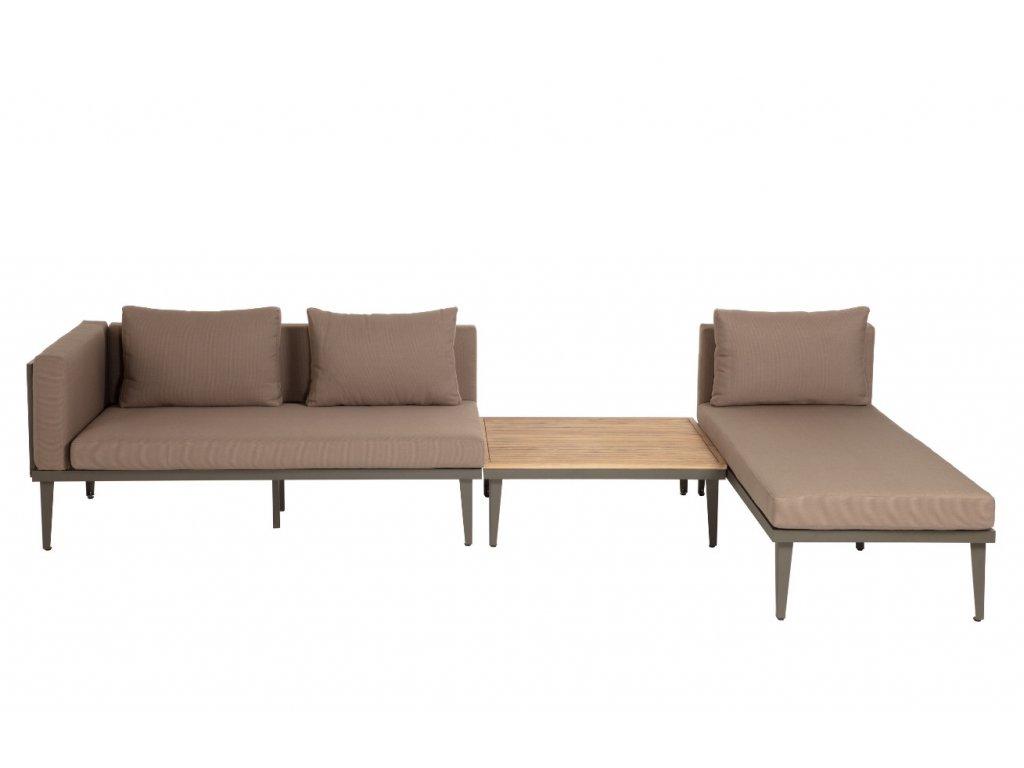Zahradní set pohovky, lenošky a dvou stolků LaForma Pascale s kovovou podnoží