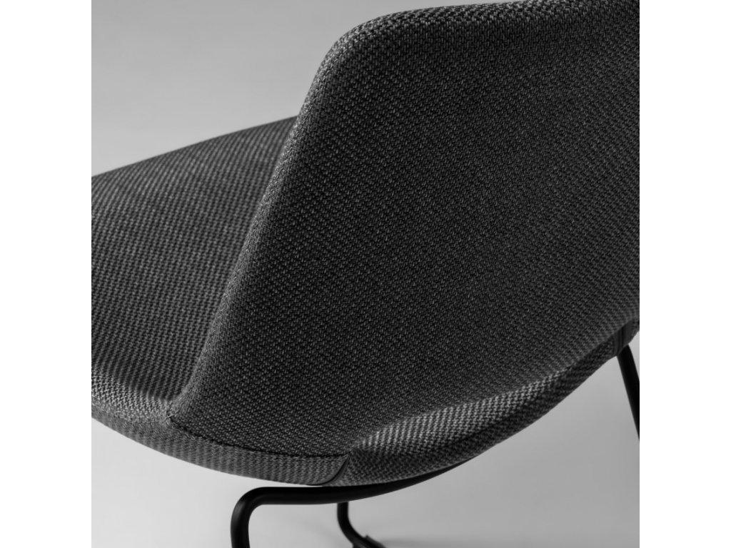 Tmavě šedá látková jídelní židle LaForma Ziggy