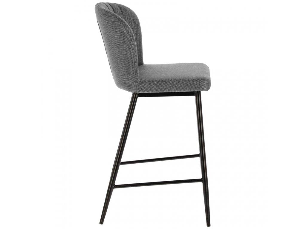 Světle šedá látková barová židle LaForma Madge