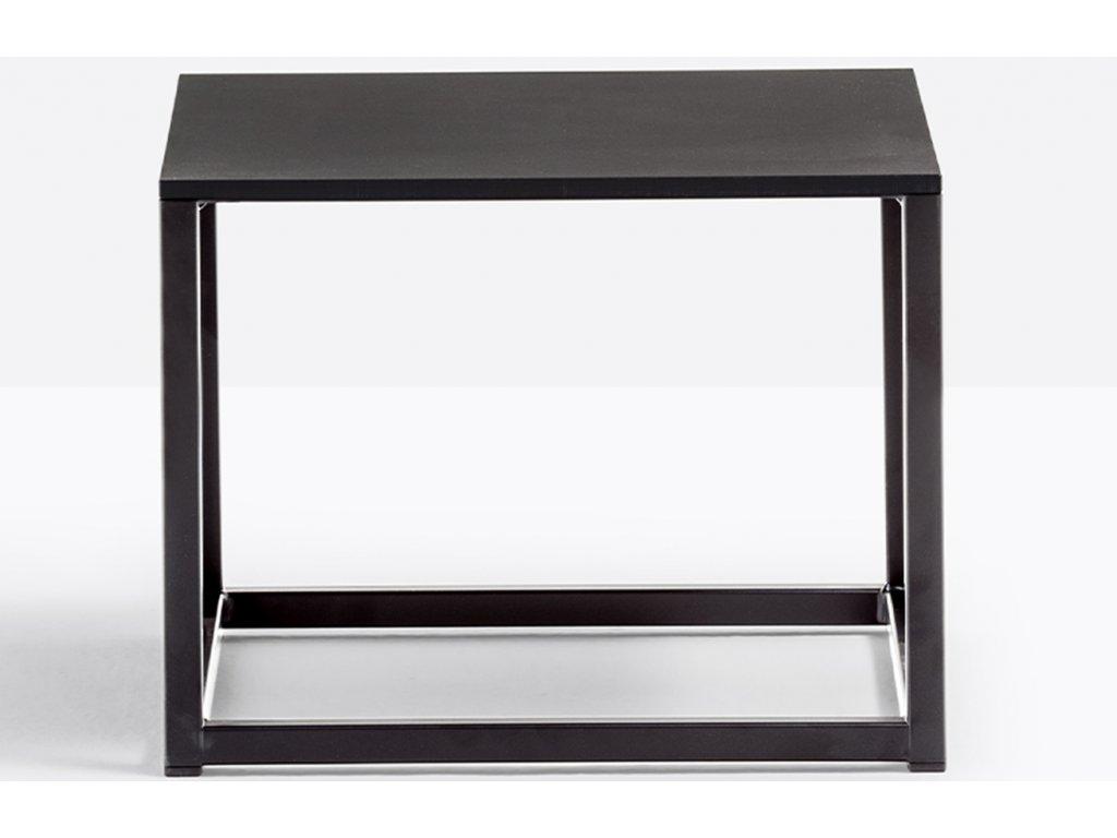Černý kovový konferenční stolek Code 40x40 cm