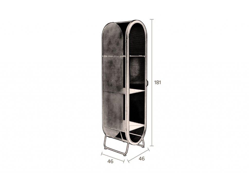 Černá kovová skříň DUTCHBONE Oval
