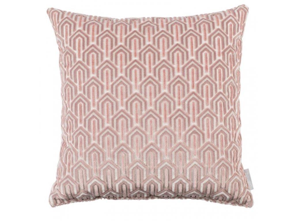 Růžový látkový polštář ZUIVER BEVERLY 45 x 45 cm