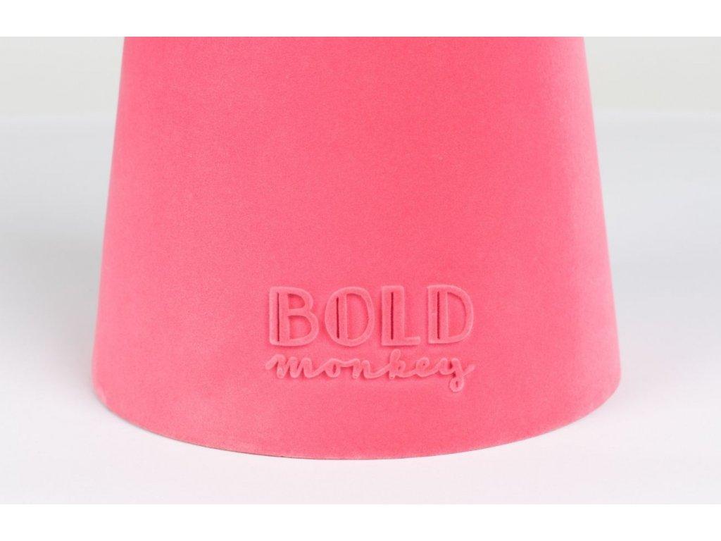 Růžový skleněný odkládací stolek Bold Monkey Leader Of The Fanclub