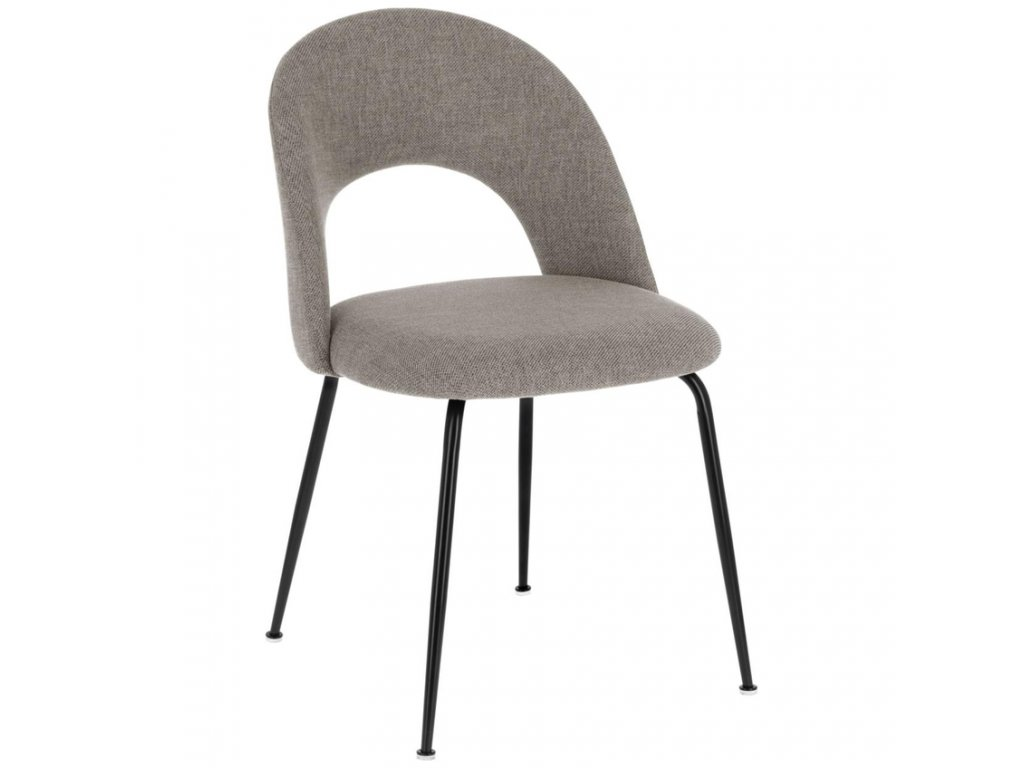 Světle šedá látková jídelní židle LaForma Mahalia