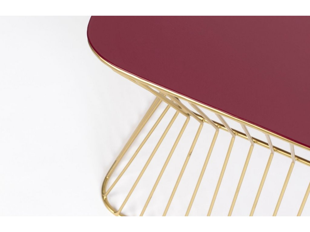 Vínovo zlatý kovový konferenční stolek BOLD MONKEY NO OFFENCE