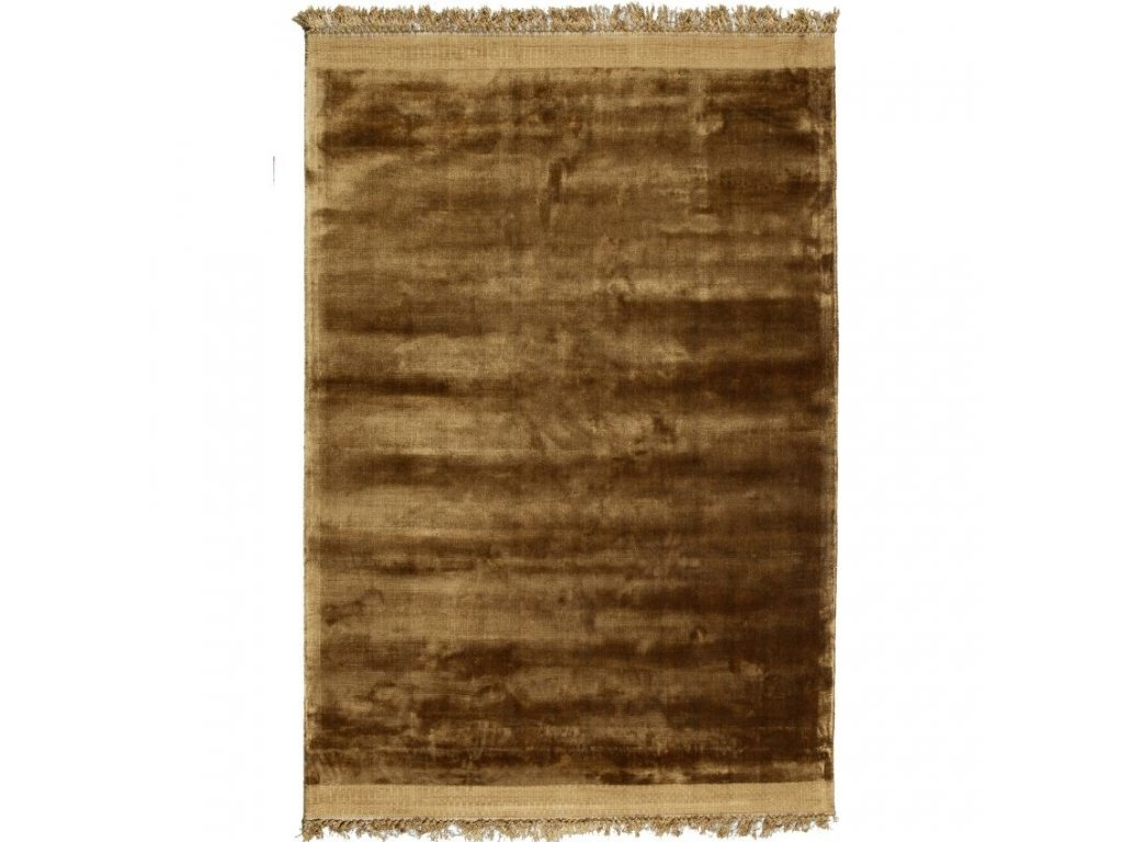 Medově žlutý sametový koberec Lord 170 x 240 cm