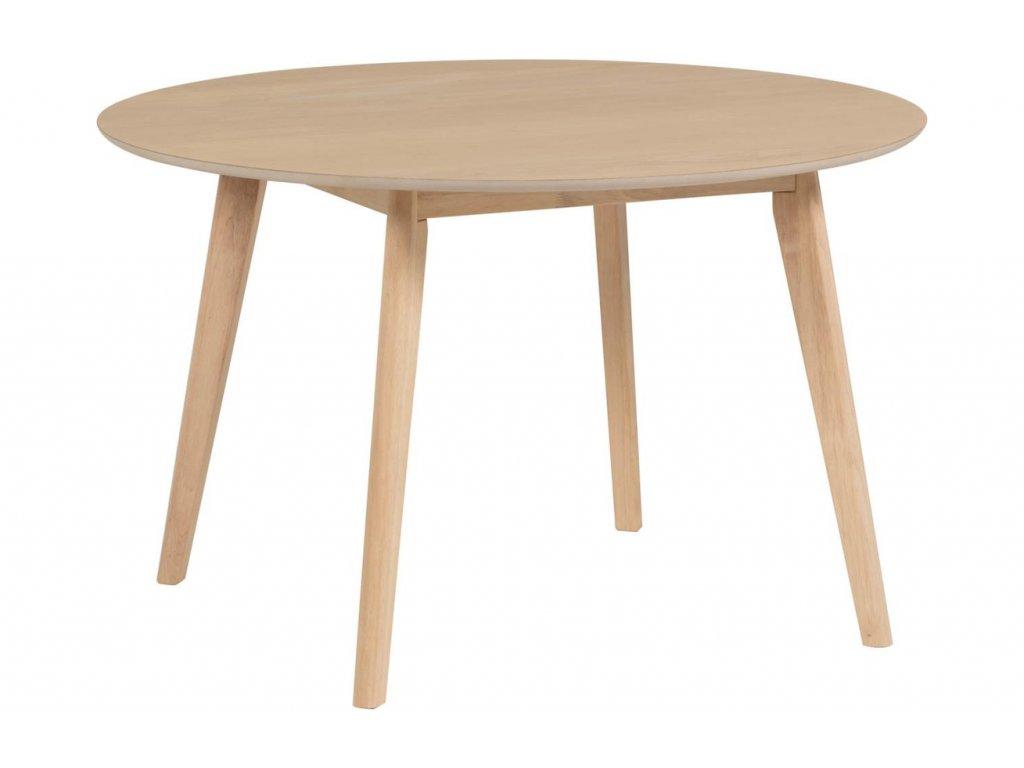 Přírodní dřevěný kulatý jídelní stůl LaForma Batilde 120 cm