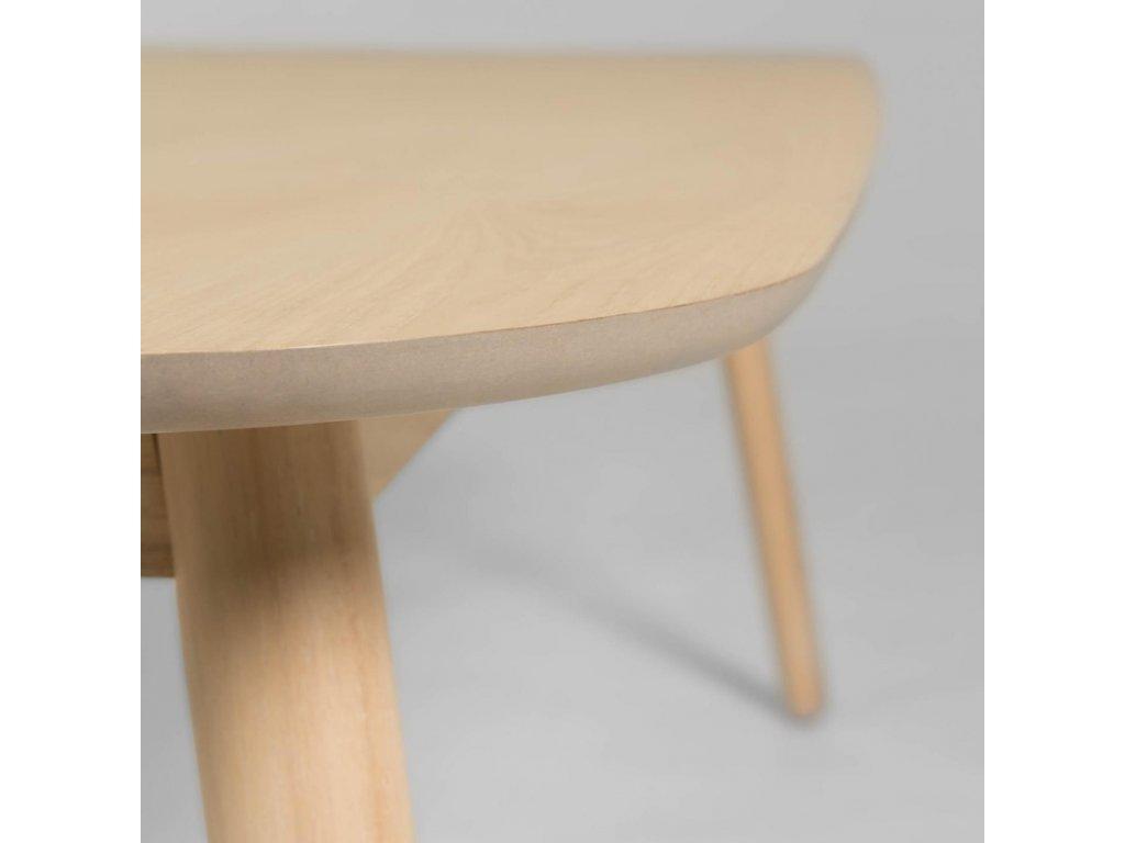 Přírodní dřevěný jídelní stůl LaForma Batilde 140 x 70 cm