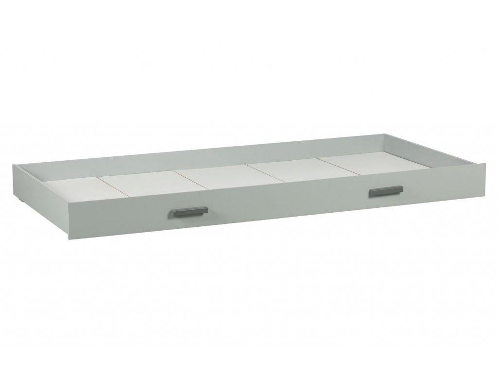 Šedá dřevěná zásuvka k posteli Wooliz 205 x 95 cm