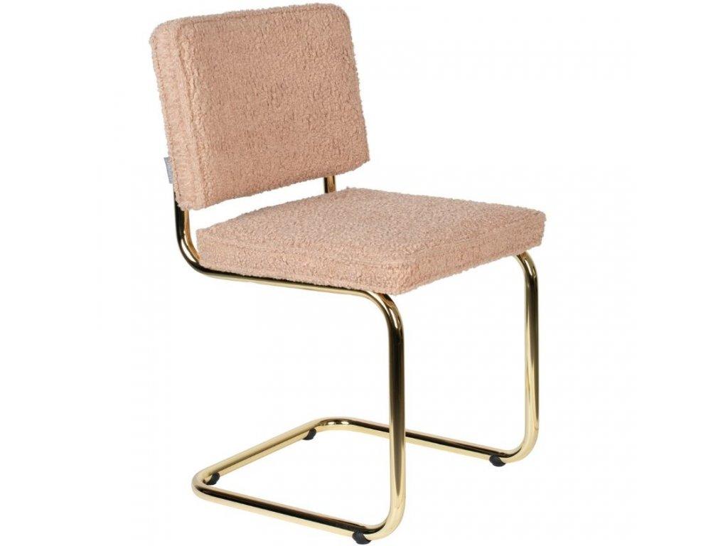 Růžová látková jídelní židle ZUIVER TEDDY848x848 (2)