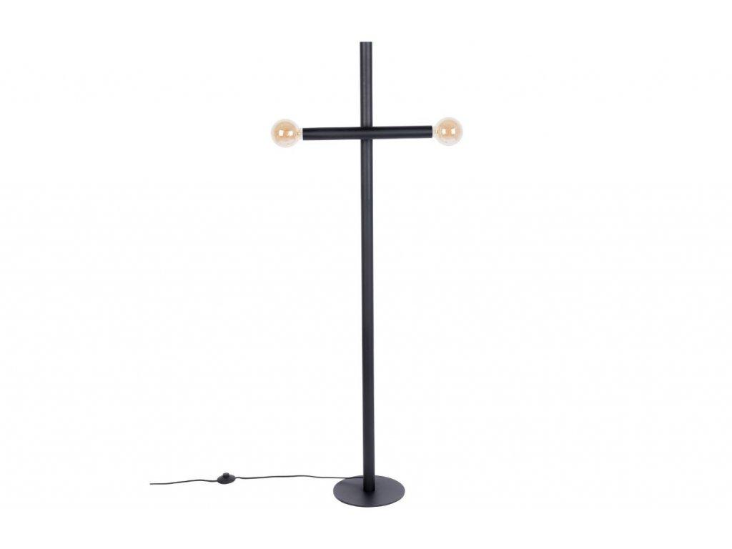 Černá kovová stojací lampa ZUIVER HAWK 160 cm