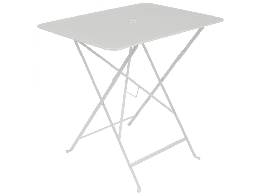 Světle šedý kovový skládací stůl Fermob Bistro 57 x 77 cm