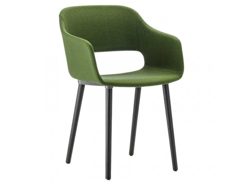 Zelená látková jídelní židle Babila 2756