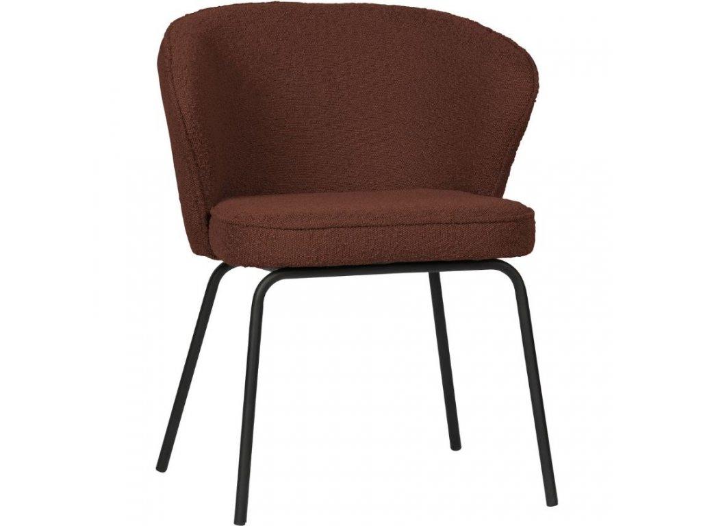 Kaštanově hnědá látková jídelní židle Twilight848x848