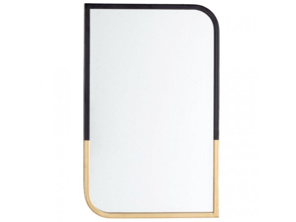 Černo zlaté nástěnné zrcadlo Bizzotto Reflix 35x55 cm